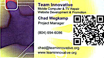 Chad Wegkamp of Team Innovative's Business Card